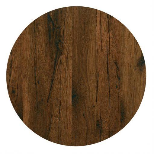 Werzalit Round Table Top Antique Oak 600mm