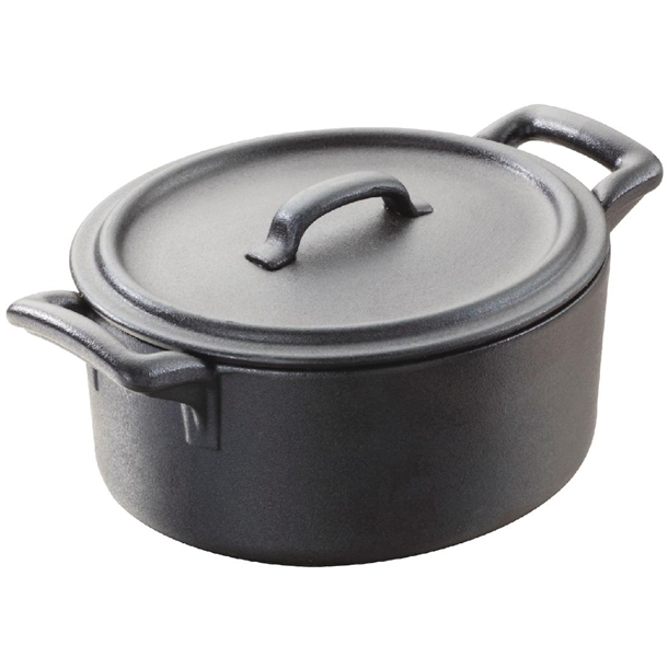 Revol belle cuisine cocotte with lid 135mm black caterspeed for Revol belle cuisine