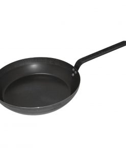 Vogue Black Iron Induction Frying Pan 255mm Caterspeed