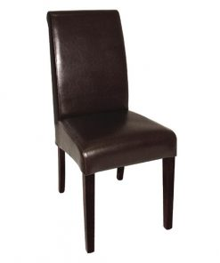 Bolero Curved Back Leather Chairs (Pack of 2)