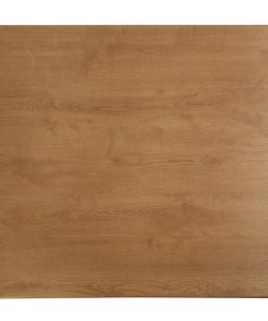 Werzalit Pre-drilled Square Table Top  Oak Effect 600mm (CE159)