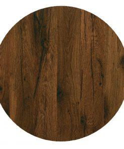 Werzalit 600(W)mm Round Pre-Drilled Table Top Antique Oak (CG718)