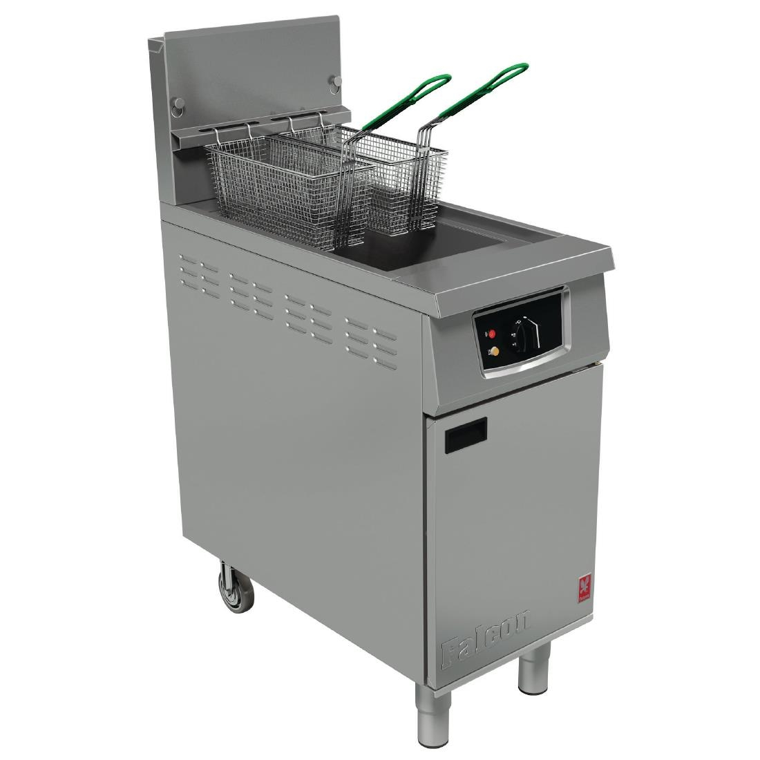 Falcon 400 Series Single Tank Twin Basket Free Standing Natural Gas Fryer G401 (CG962-N)