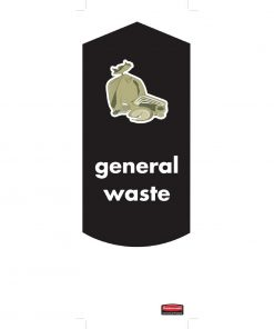 Rubbermaid General Waste Stickers (Pack of 4) (DM959)