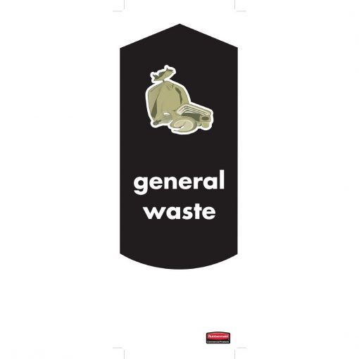 Rubbermaid General Waste Stickers (Pack of 4) (DM959)