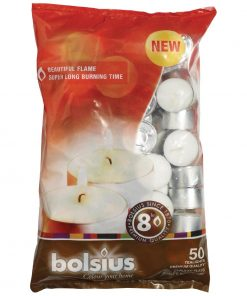 Bolsius 8 Hour Tealights (Pack of 50) (DP228)