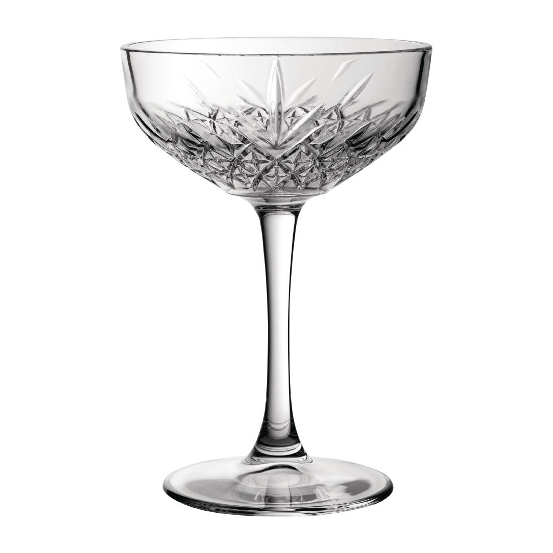 Utopia Timeless Vintage Champagne Saucers 270ml (Pack of 12) (DY301)