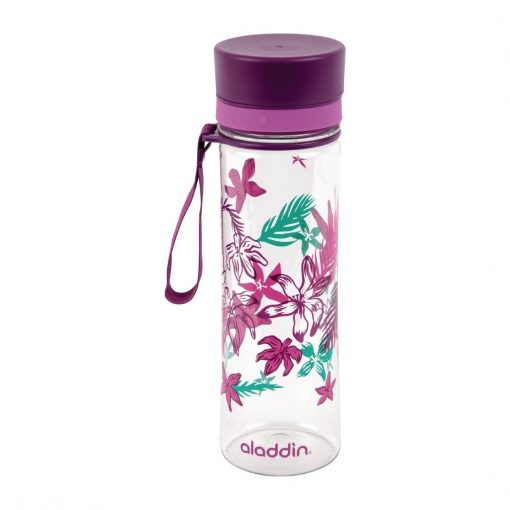 Aladdin Aveo Reusable Water Bottle Purple Graphics 600ml / 21oz (FC811)