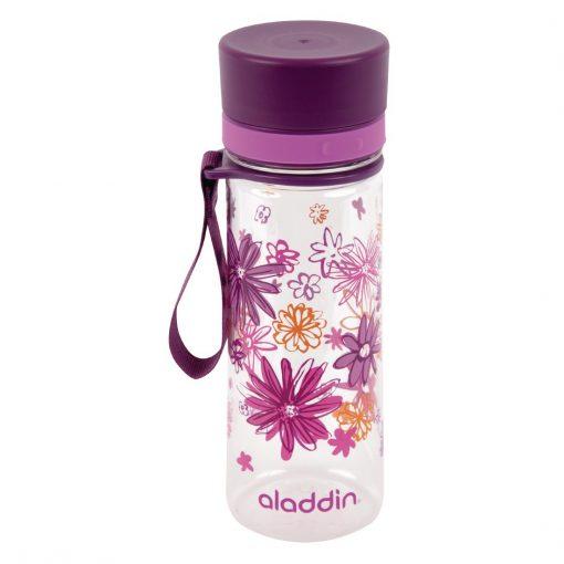 Aladdin Aveo Reusable Water Bottle Purple Graphics 350ml / 12oz (FC815)