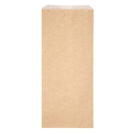 Fiesta Green Biodegradable Kraft Hot and Crispy Hot Food Bags 283 x 127mm (Pack of 500) (FC878)