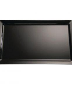 APS Pure Melamine Tray Black GN 1/2 (GF123)