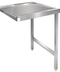 Vogue Pass Through Dishwash Table Right 1100mm (GJ536)