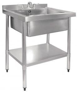 Vogue Stainless Steel Midi Pot Wash Sink with Undershelf (GJ537)
