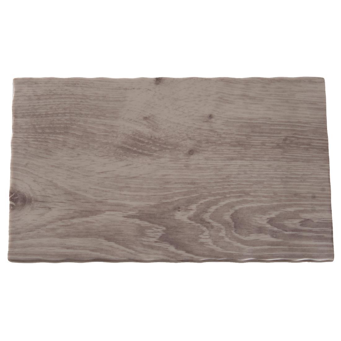 APS Wood Effect Melamine Tray GN 1/4 (GK648)