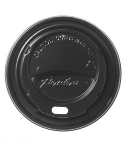 Black Domed Lids For Benders 225ml Disposable Super Insulated (GK883)