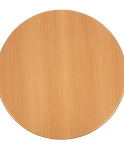 Bolero Pre-drilled Round Table Top Beech Effect 800mm (GL975)