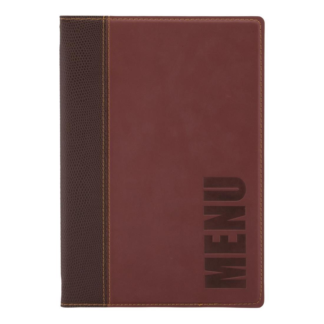 Securit Contemporary Menu Cover Bordeaux A5 (H718)