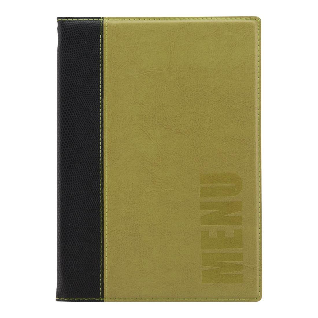 Securit Contemporary Menu Cover Green A5 (H720)