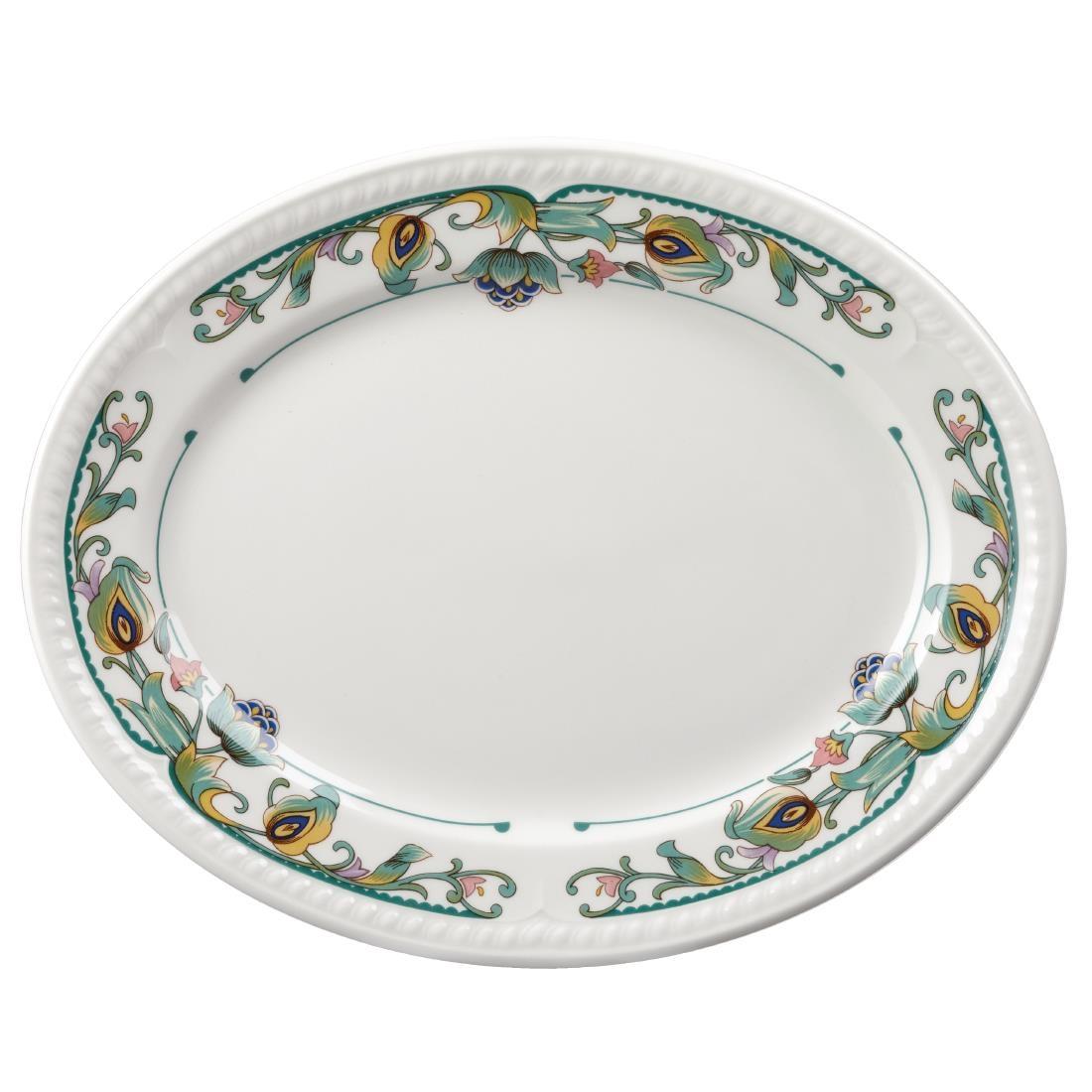 Churchill Buckingham Sumatra Oval Platters 254mm (Pack of 12) (M501)