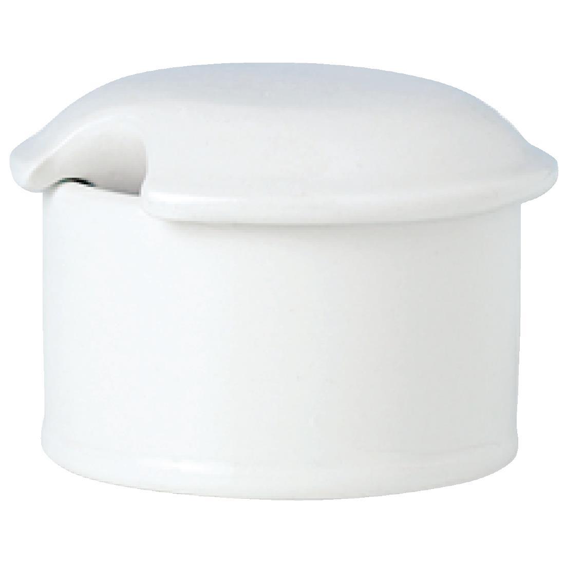 Steelite Simplicity White Mustard Dipper Lids (Pack of 12) (V9469)